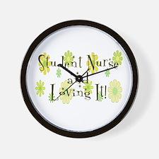 Cute Nurse student Wall Clock
