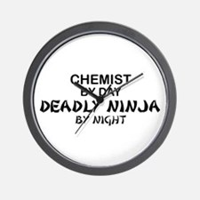 Chemist Deadly Ninja by Night Wall Clock