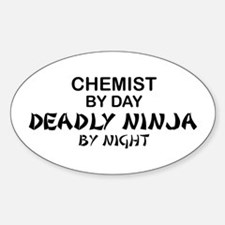 Chemist Deadly Ninja by Night Oval Decal