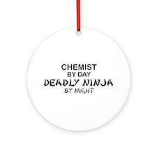Chemist Deadly Ninja by Night Ornament (Round)