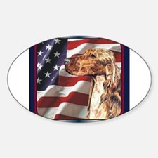Irish Setter Dog Patriotic USA Flag Decal
