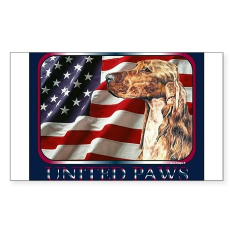 Irish Setter Dog Patriotic US Flag Sticker