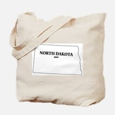North Dakota State and Date Tote Bag