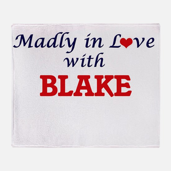 Madly in love with Blake Throw Blanket