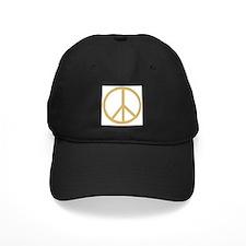 Retro Gold Peace Symbol Baseball Hat