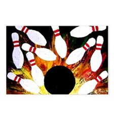 Cute Bowling Postcards (Package of 8)