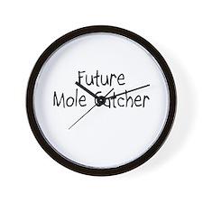 Future Mole Catcher Wall Clock