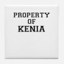 Property of KENIA Tile Coaster