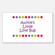 Auntie's Little Love Bug Rectangle Decal