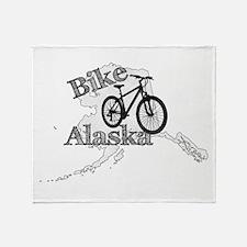 Bike Alaska Throw Blanket