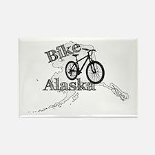 Bike Alaska Rectangle Magnet
