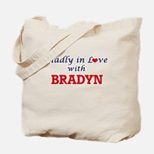 Madly in love with Bradyn Tote Bag
