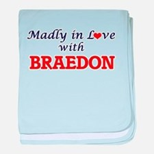 Madly in love with Braedon baby blanket