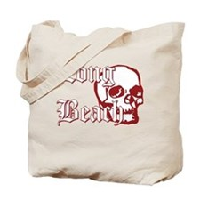 Long Beach Skull Tote Bag