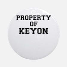 Property of KEYON Round Ornament