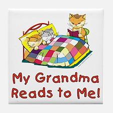 Grandpa Reads Tile Coaster