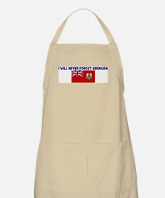 I WILL NEVER FORGET BERMUDA BBQ Apron