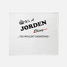 JORDEN thing, you wouldn't understan Throw Blanket