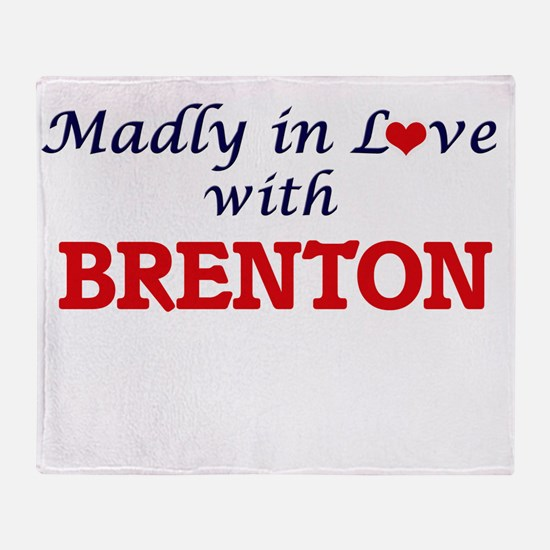 Madly in love with Brenton Throw Blanket