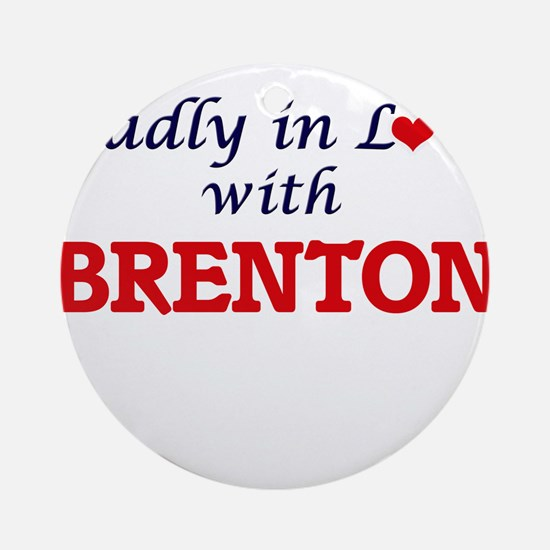 Madly in love with Brenton Round Ornament