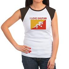 I LOVE BHUTAN Women's Cap Sleeve T-Shirt