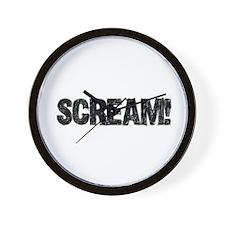 Scream! Wall Clock