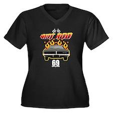 Hot Rod - 69 Charger Women's Plus Size V-Neck Dark