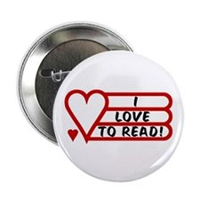 """Love to Read 2.25"""" Button (10 pack)"""