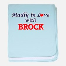 Madly in love with Brock baby blanket