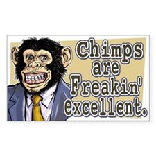 SAMPLE CHIMP Rectangle Decal
