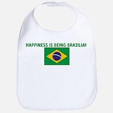 HAPPINESS IS BEING BRAZILIAN Bib