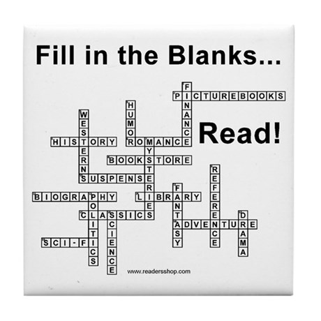 Fill in the Blanks Tile Coaster