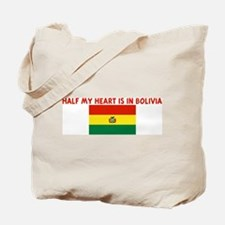 HALF MY HEART IS IN BOLIVIA Tote Bag