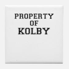 Property of KOLBY Tile Coaster