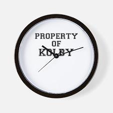 Property of KOLBY Wall Clock