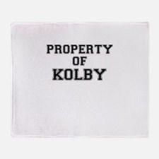 Property of KOLBY Throw Blanket
