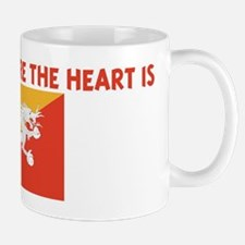 BHUTAN IS WHERE THE HEART IS Mug