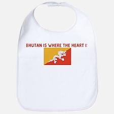 BHUTAN IS WHERE THE HEART IS Bib