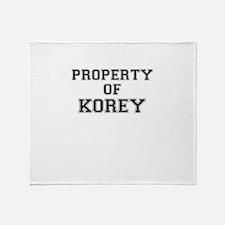 Property of KOREY Throw Blanket