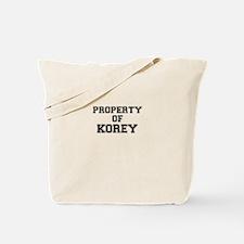 Property of KOREY Tote Bag