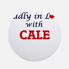 Madly in love with Cale Round Ornament