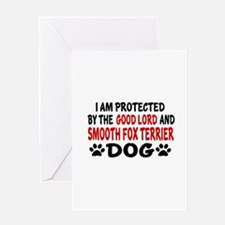 Protected By Smooth Fox Terrier Dog Greeting Card