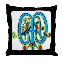 Illuminated Letter Throw Pillow