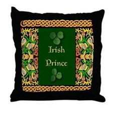Irish Prince Throw Pillow