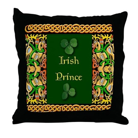 Irish Prince Throw Pillow