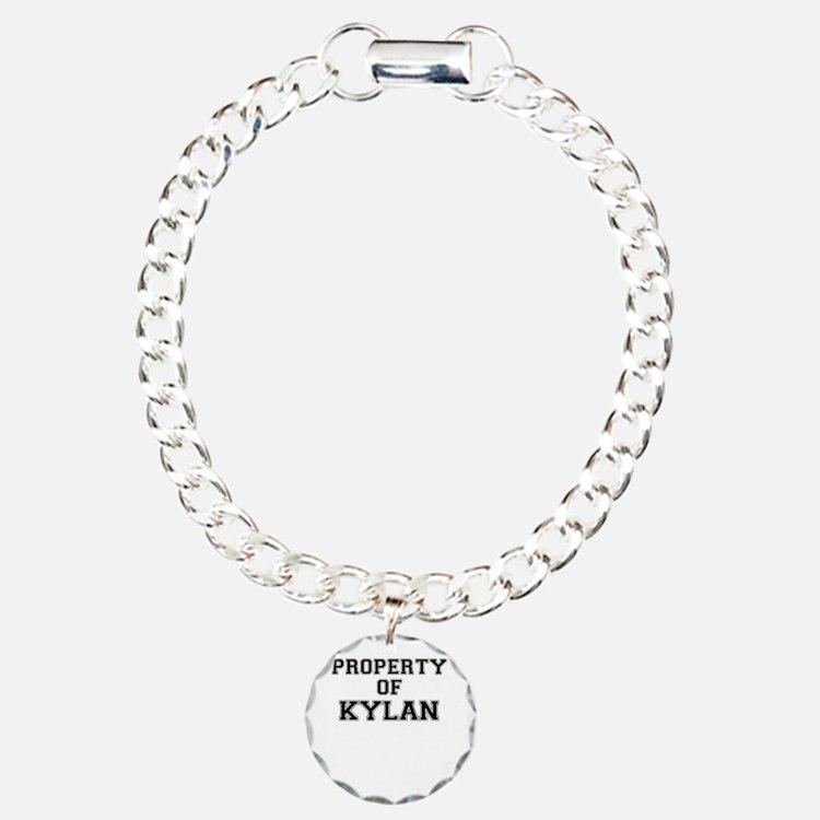 Property of KYLAN Charm Bracelet, One Charm