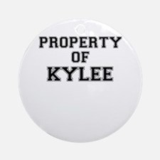 Property of KYLEE Round Ornament