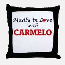 Madly in love with Carmelo Throw Pillow