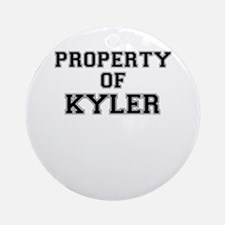 Property of KYLER Round Ornament