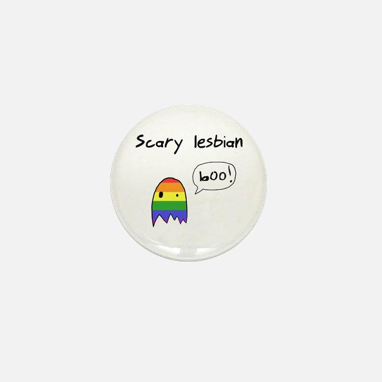 Scary Lesbian Mini Button